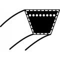 Klinový řemen MTD Mastercut 76, Spider 76, LA 125,BL 125/76- Wisconsin Prime W1639,1618, 1633, 1635, 1638  (17 x 1450 Li) (12434 / 012434)