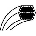 Řemen Husqvarna CTH 150, 180 | Partner P18H107RB | McCulloch M185107HRB  (12,7 x 2882,9) (532 16 91-78,532 40 20-09)POHON NOŽE