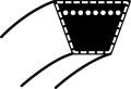 Řemen klinový MTD - minitraktory: Deck E z košem i Deck H | GUTBROD DLX 96SA, DLX 107SAL, DLX 117SAL (754-0468)